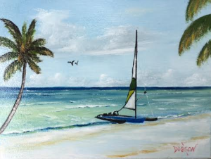 """Catamaran On The Beach"" #137416 BUY $95 8x10 - Free Shipping Lower US 48 & Canada"