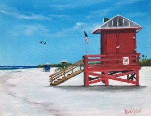 "Private Collection Of: Lauren Pulsfier Sarasota, Florida ""Red Lifeguard Stand"" #143516 $95 8x10"