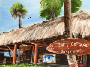 """The Cottage On Siesta Key"" #143916 BUY $150 8""h x 10""w - FREE shipping lower US & Canada"
