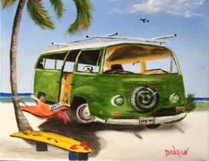 """My VW Van"" #144116 BUY $95 8""h x 10""w - FREE shipping lower US 48 & Canada"