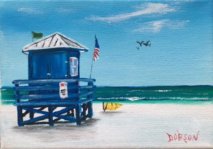 """Blue Lifeguard Stand"" #144916 BUY $60 5x7 - FREE Shipping lower US 48 & canada"
