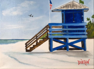 """""""Blue Lifeguard Stand"""" #146316 BUY $95 8""""h x 10""""w - FREE shipping lower US 48 & Canada"""