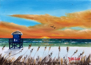"""Siesta Sunset"" #151717 BUY $60 5x7 - FREE shipping lower US 48 & Canada"