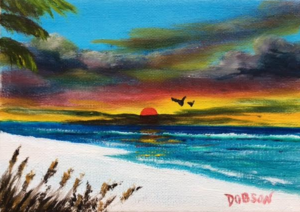 """Siesta Sunset"" #151617 BUY $60 5x7 - FREE shipping lower US 48 & Canada"