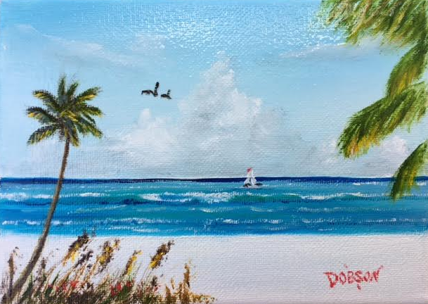 """""""My Paradise"""" #151917 BUY $60 5""""h x 7""""w - FREE shipping lower US 48 & Canada"""