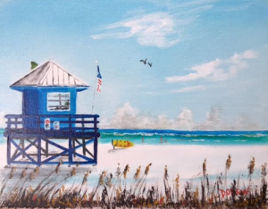 "John Ridgway Lake Zurich, Illinois ""Blue Lifeguard Stand"" #152417 $95 8"" x 10"""