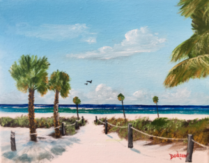 """Siesta Key Beach"" #156717 BUY $95 8""h x 10""w - FREE shipping lower US 48 & Canada"