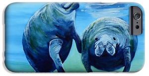 """A Manatee Family"" Cell Phone Case BUY"