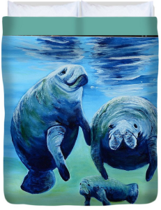 """A Manatee Family"" Duvet Cover BUY"