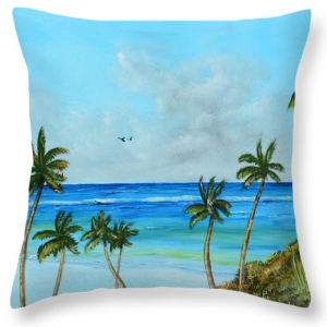"""A Piece Of Paradise"" Throw Pillow BUY"