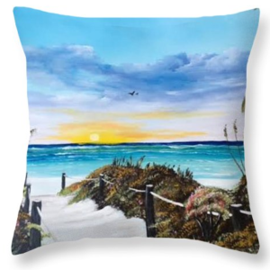 """Access The Siesta Key Sunset"" Throw Pillow BUY"