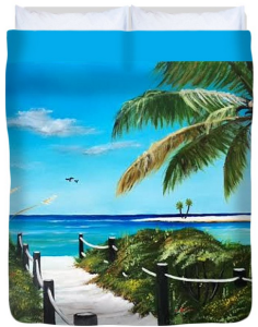 """Access To The Beach"" Duvet Cover BUY"