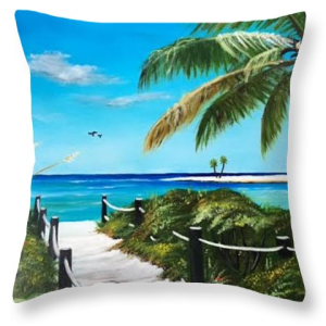 """Access To The Beach"" Throw Pillow BUY"