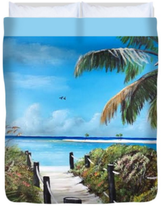 """Beach Time On The Key"" Duvet Cover BUY"
