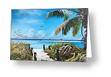 """Beach Time On The Key"" Greeting Card BUY"