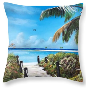 """Beach Time On The Key"" Throw Pillow BUY"