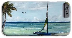 """Catamaran On The Beach"" Cell Phone Case BUY"