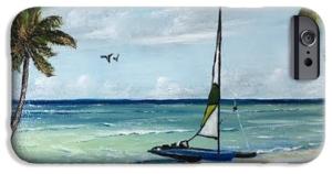 """Catamaran On The Beach"" Cell Phone Case BUY"
