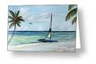 """Catamaran On The Beach"" Greeting Card BUY"