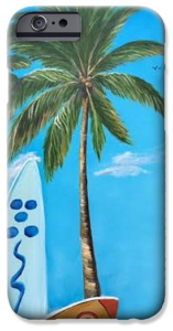 """Clear Sky Let's Surf"" Cell Phone Case BUY"