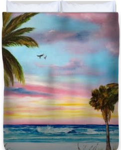 Colors Of Siesta Key Duvet Cover BUY