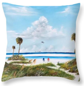 """In Paradise"" Throw Pillow BUY"