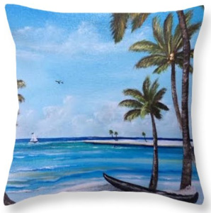"""Island Paradise"" Throw Pillow BUY"