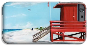"""Let's Meet At The Red Lifeguard Shack"" Cell Phone Case BUY"
