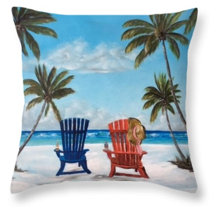 """Living The Dream"" Throw Pillow BUY"