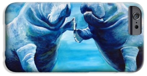 """""""Manatees Socializing"""" Cell Phone Case BUY"""