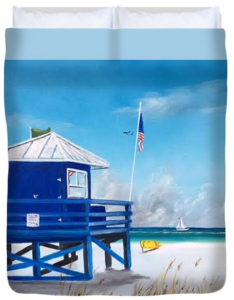"""Meet At Blue Lifeguard"" Duvet Cover BUY"