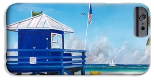 """Meet At The Blue Lifeguard"" Cell Phone Case BUY"