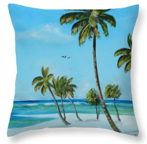"""My Paradise"" Throw Pillow BUY"