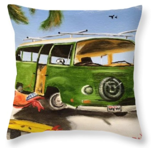 """My VW Van"" Throw Pillow BUY"