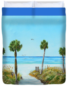 """Our Paradise On The Key"" Duvet Cover BUY"