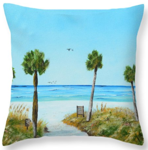 """Our Paradise On The Key"" Throw Pillow BUY"