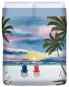 """Our Spot At Sunset"" Duvet Cover BUY"