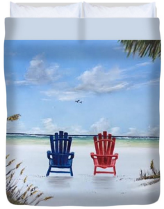 """Our Spot On Siesta Key"" Duvet Cover BUY"
