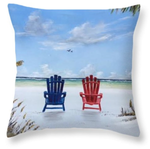 """Our Spot On Siesta Key"" Throw Pillow BUY"