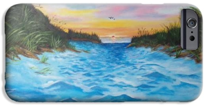 """Path To The Key At Sunset"" Cell Phone Case BUY $40"
