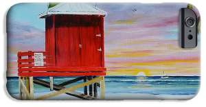 """Red Lifeguard Shack On Siesta Key"" Cell Phone Case BUY"