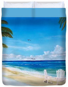 """Relaxing At The Beach"" Duvet Cover BUY"