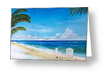 """Relaxing At The Beach"" Greeting Card BUY"