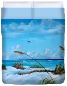 """Sea Grass On The Key"" Duvet Cover BUY"