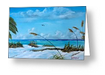 """Sea Grass On The Key"" Greeting Card BUY"