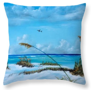 """Sea Grass On The Key"" Throw Pillow BUY"