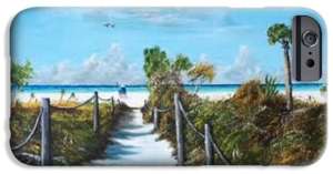 """Siesta Beach Access"" Cell Phone Case BUY"