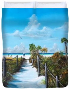 """Siesta Beach Access"" Duvet Cover BUY"