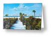"""Siesta Beach Access"" Greeting Card BUY"