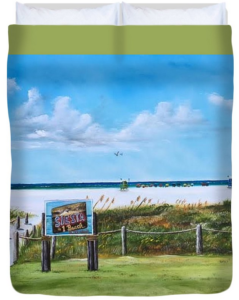 """Siesta Key Public Beach"" Duvet Cover BUY"